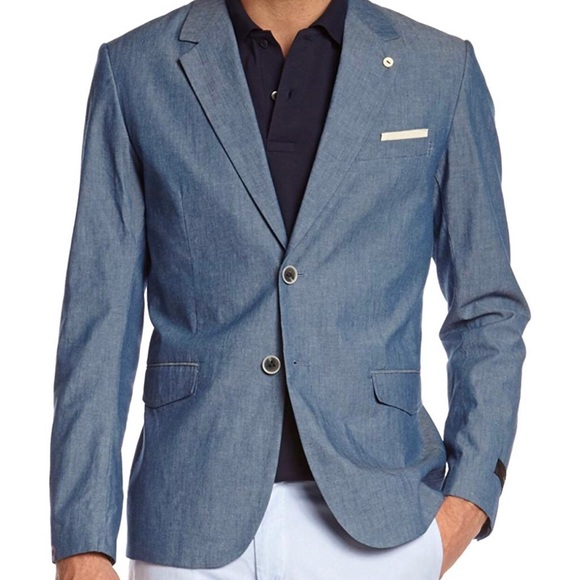 660090b7ec1 G-Star Suits & Blazers | Gstar Raw Omega Chambray Cotton Slim Fit ...